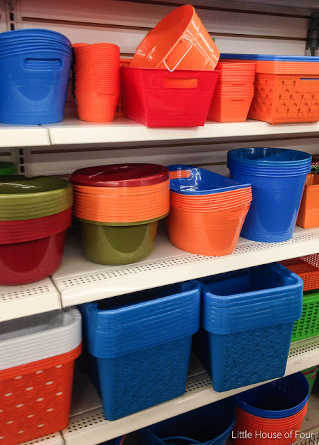 Dollar Tree storage bins before