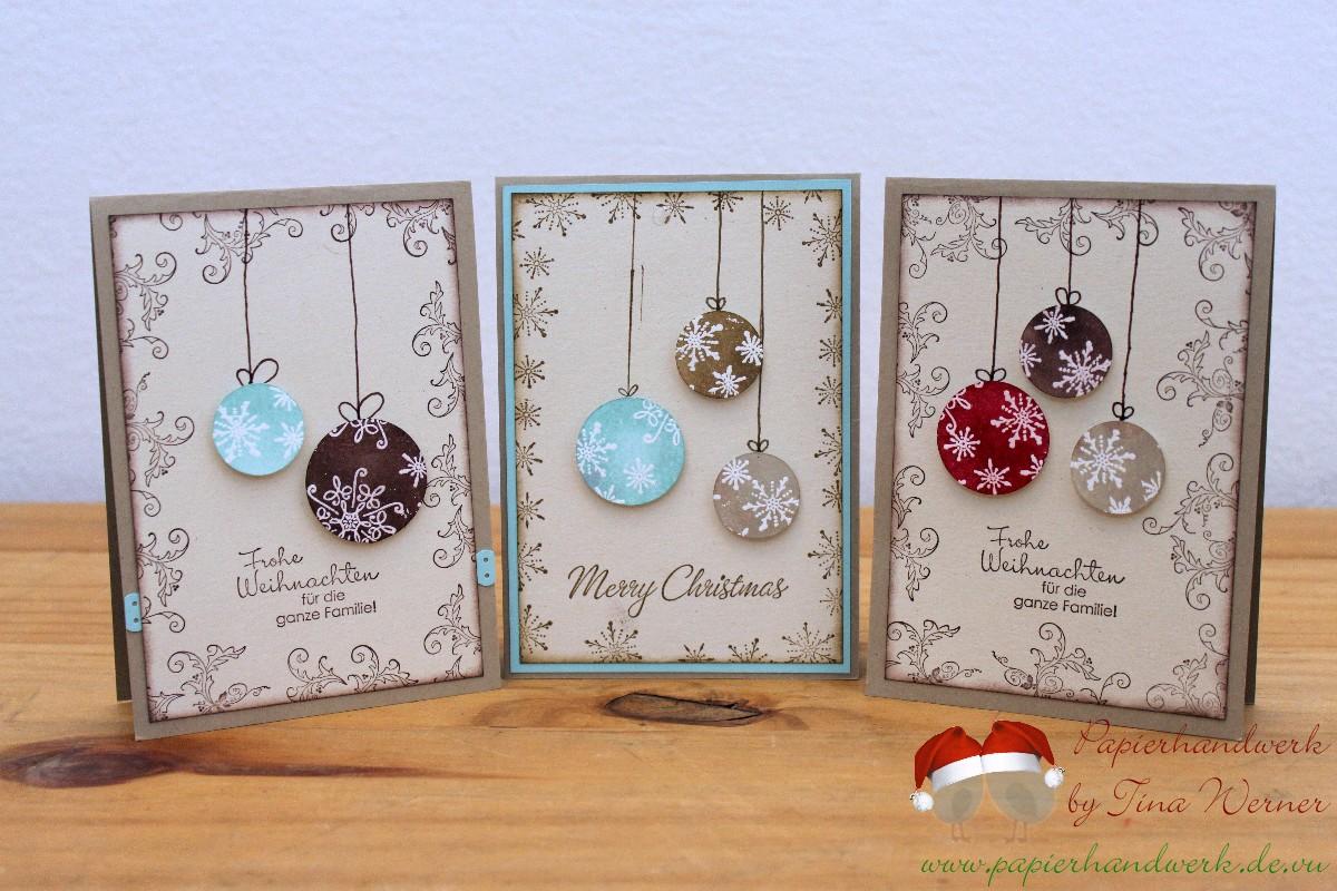 papierhandwerk ein paar weihnachtskarten. Black Bedroom Furniture Sets. Home Design Ideas