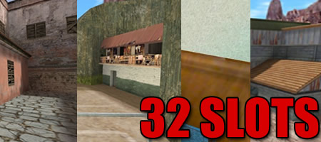 Pack de Mapas 4Fun com 32 Slots/Spawns, pack mapas, maps, cs_rio32, de_nuke32, maps 32 slots, 32 spawns