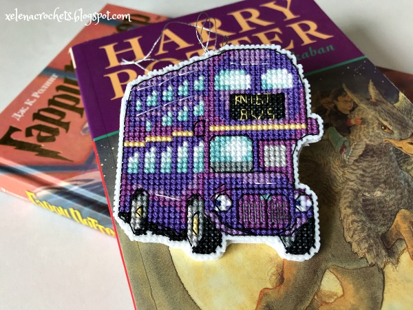 вышивка Knight Bus елка в стиле Гарри Поттера