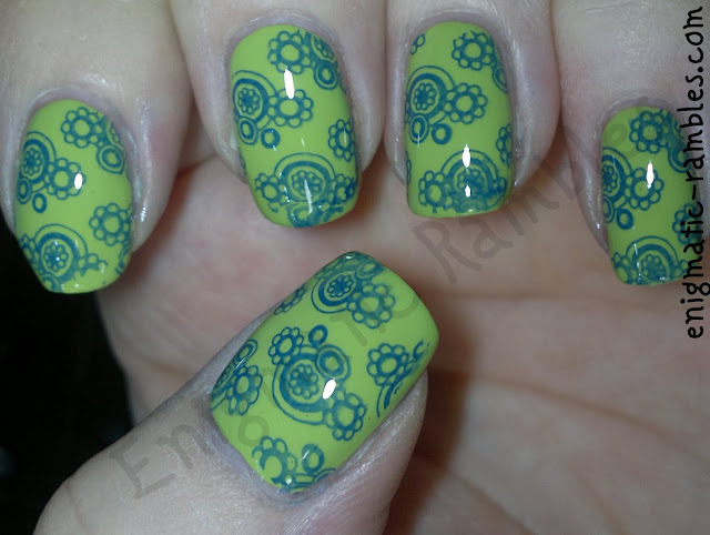 stamped-stamping-nails-nail-art-barry-m-blue-grape-key-lime-cheeky-plates-CH44