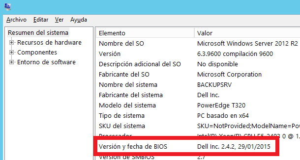 Windows: Ver versión BIOS-UEFI