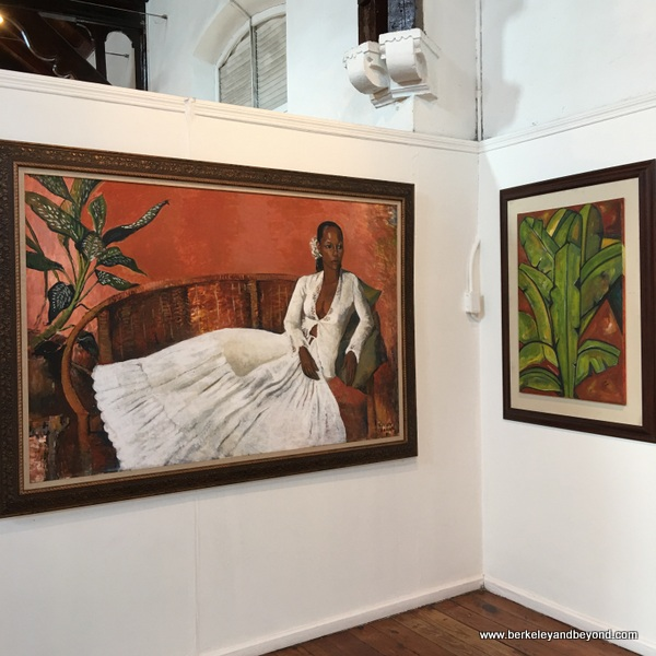 art gallery display at The National Museum & Art Gallery of Trinidad & Tobago in Port of Spain, Trinidad