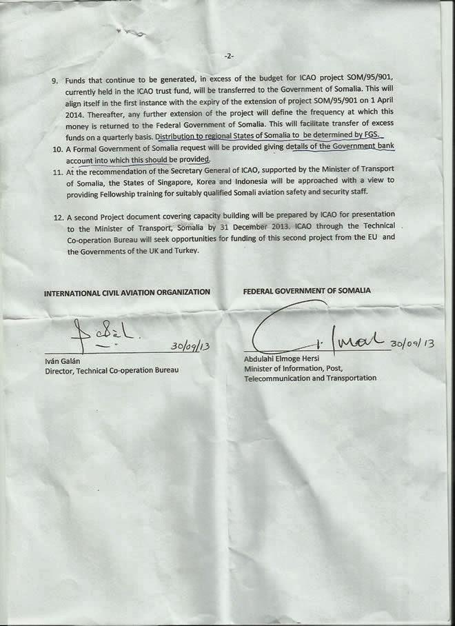 © Medeshi News: Signed agreement : Somalia to manage