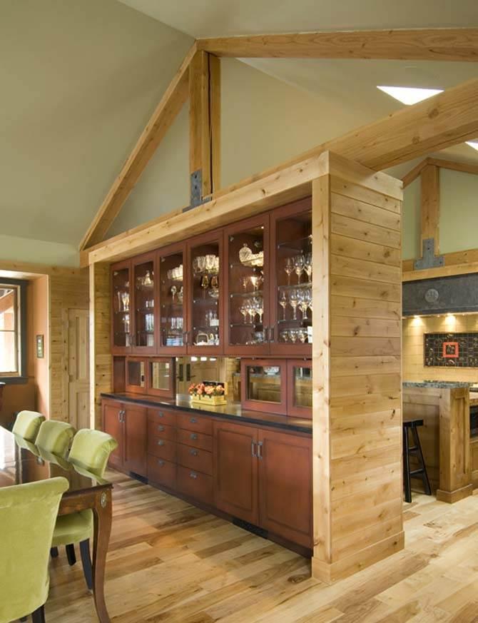 contemporary stone home exterior natural wood interiors charm design. Black Bedroom Furniture Sets. Home Design Ideas