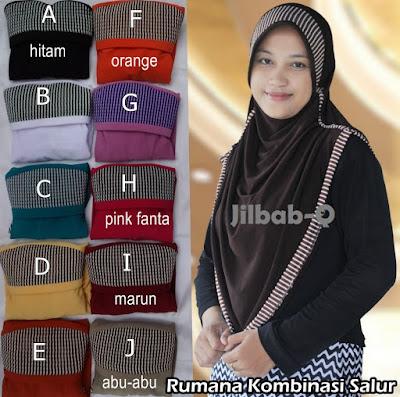 Grosir Jilbab Rumana Kombinasi Salur