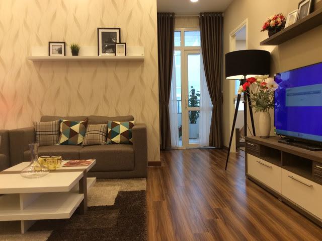 Phòng khách chung cư FLC Garden City