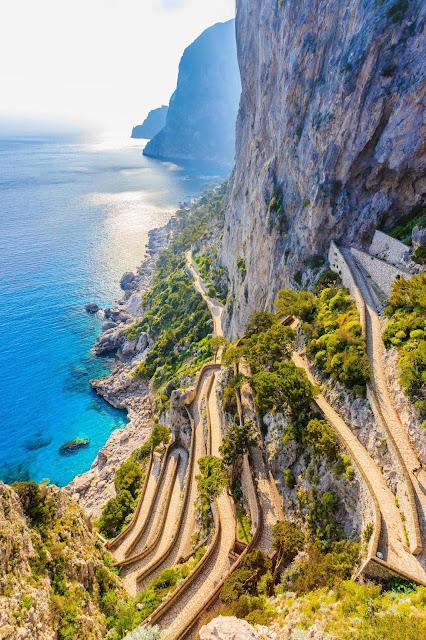 Capri italy waterfall landscape