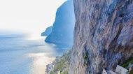 Capri italy waterfall landscape mobile wallpaper