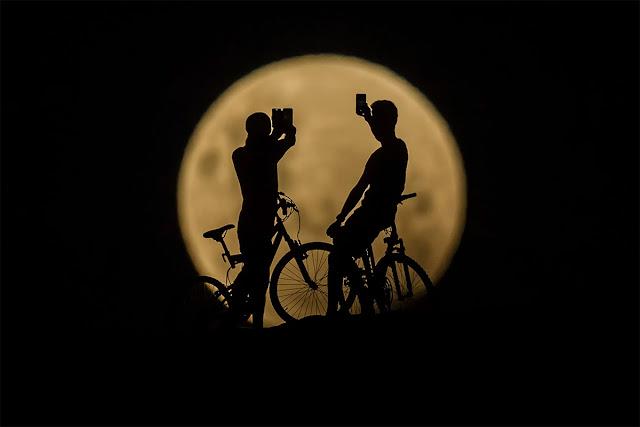 Eclipse Lunar Total de 31 de janeiro de 2018 - Lancelin, Austrália, Paul Kane