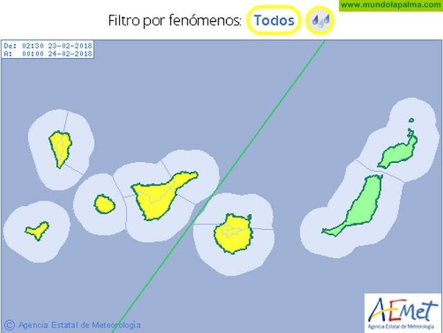 Alertas en La Palma por Lluvias y Tormentas