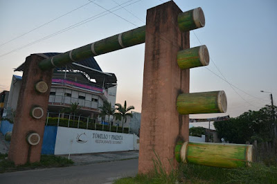 The impressive bamboo 'gate' in Tame, Arauca, Colombia, officially marking your entry to Arauca coming from Casanare.
