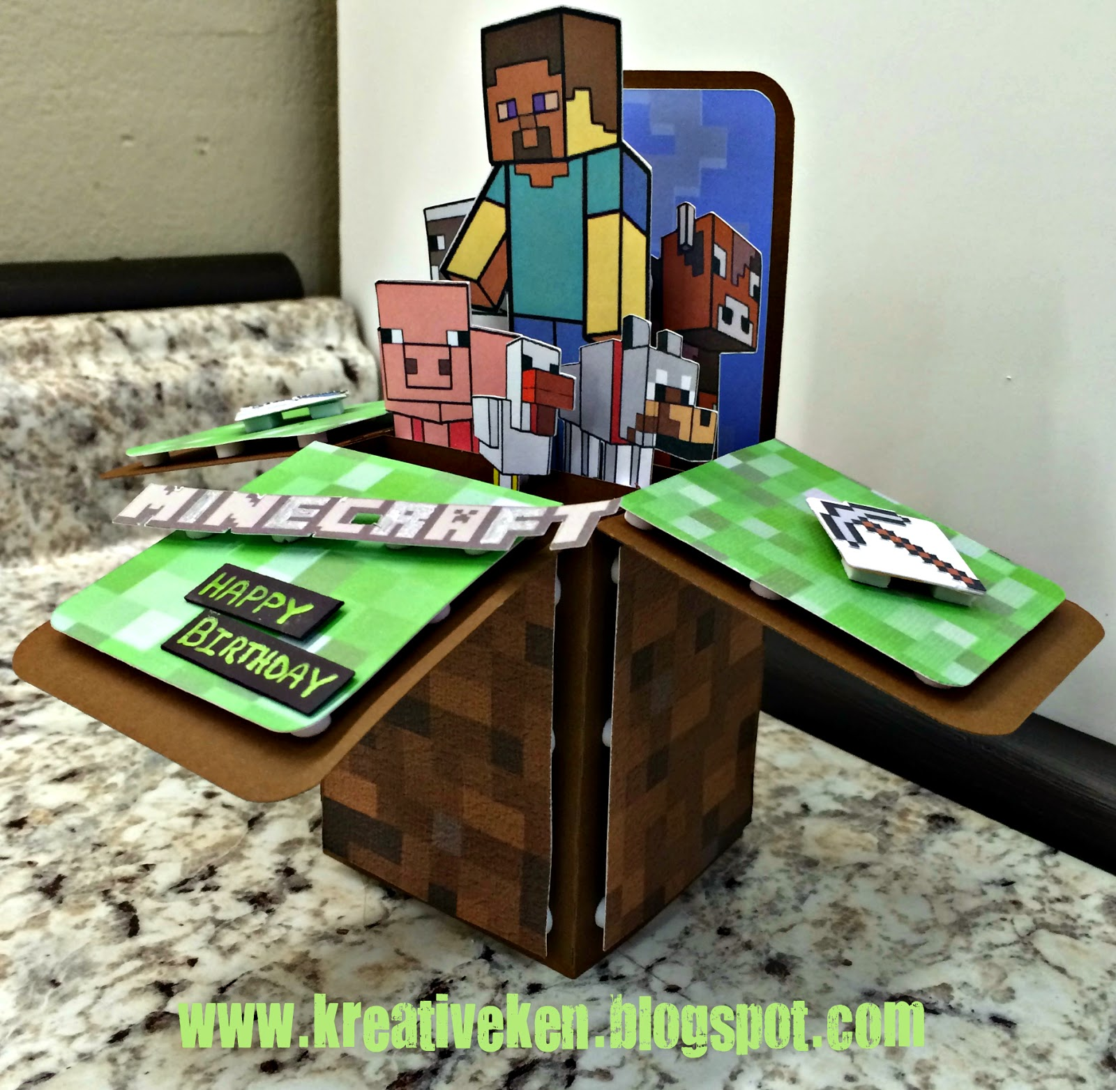 Minecraft birthday card kens kreations minecraft birthday card bookmarktalkfo Image collections