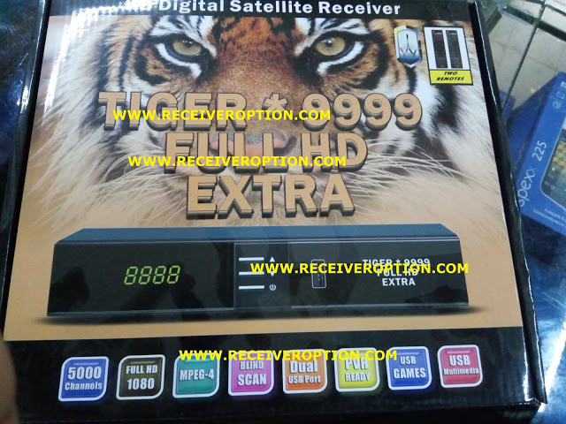 TIGER 9999 FULL HD EXTRA RECEIVER AUTO ROLL POWERVU KEY NEW SOFTWARE