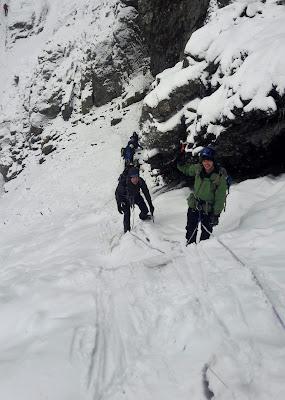 Ben Nevis, Ledge route winter.