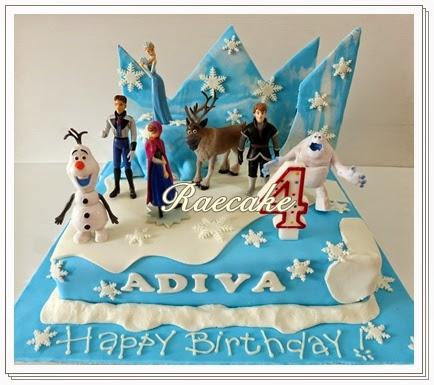 Frozen Cake For Adiva Kue Ulang Tahun Birthday Cake