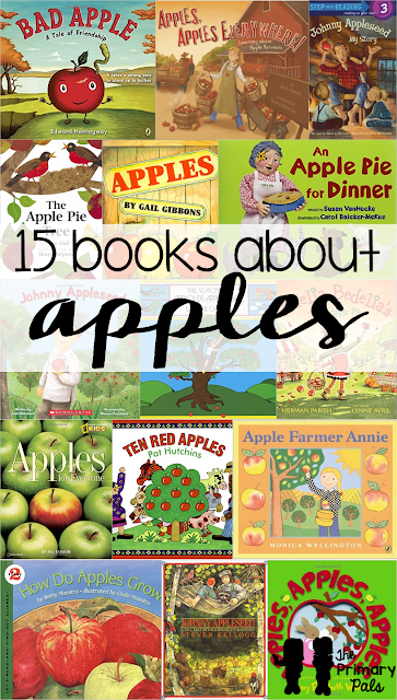 One of the best things to teach about in the fall is apples! There are so many fun books, songs, crafts, and activities that go along with apples. My favorite part is definitely making applesauce, because that sweet aroma will last all day! Download a FREE printable book list for apples now!