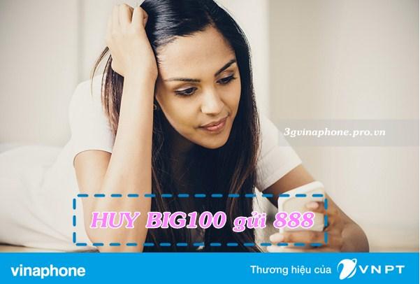 Hướng dẫn hủy gói cước 3G BIG100 Vinaphone