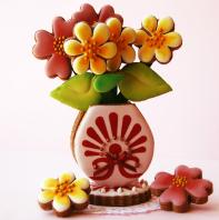 Galletas 3D Jarrón de flores GALLETAS DE MANTEQUILLA