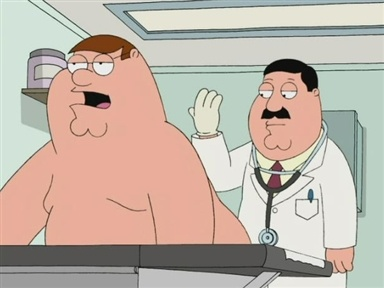 Peter Griffin prosate exam