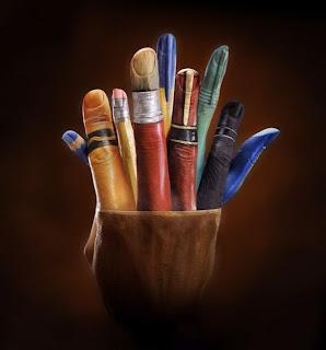 Body paint e ilusión óptica con manos