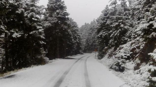 Πυκνή χιονόπτωση στην Αρκαδία - Ποιοι δρόμοι εκλεισαν και που χρειάζονται αλυσιδες στην Πελοπόννησο