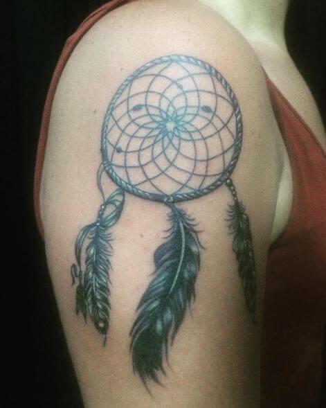 Feather dreamcatcher Tattoo