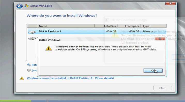 Cara mengatasi Windows cannot be installed to this disk