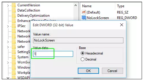 Setting NoLockScreen to 1 How To Quickly Disable The Windows 10 Lock Screen