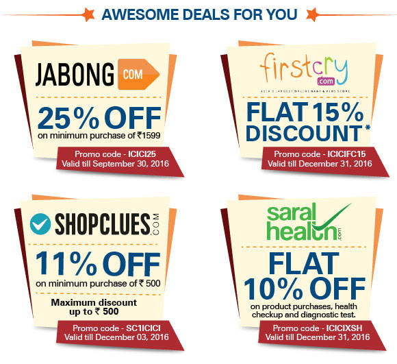 ICICI Bank Shopping Offers