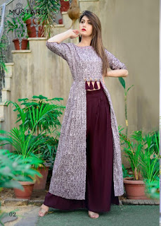 Mustard Nx Cocktail Party wear kurtis Catalog wholesaler