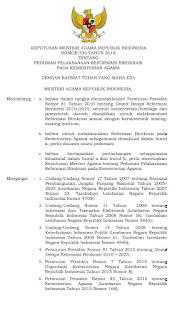 Keputusan Menteri Agama Nomor 536 Tahun 2018 Tentang Pedoman Pelaksanaan Reformasi Birokrasi Pada Kementerian Agama