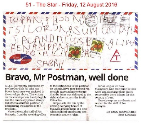 Bravo, Mr Postman, Well Done