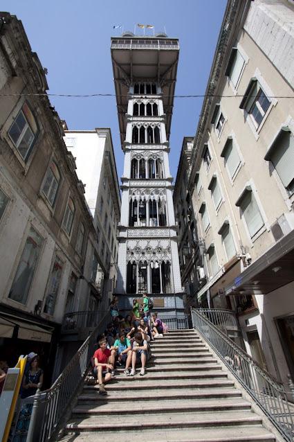Elevador de Santa Justa-Lisbona
