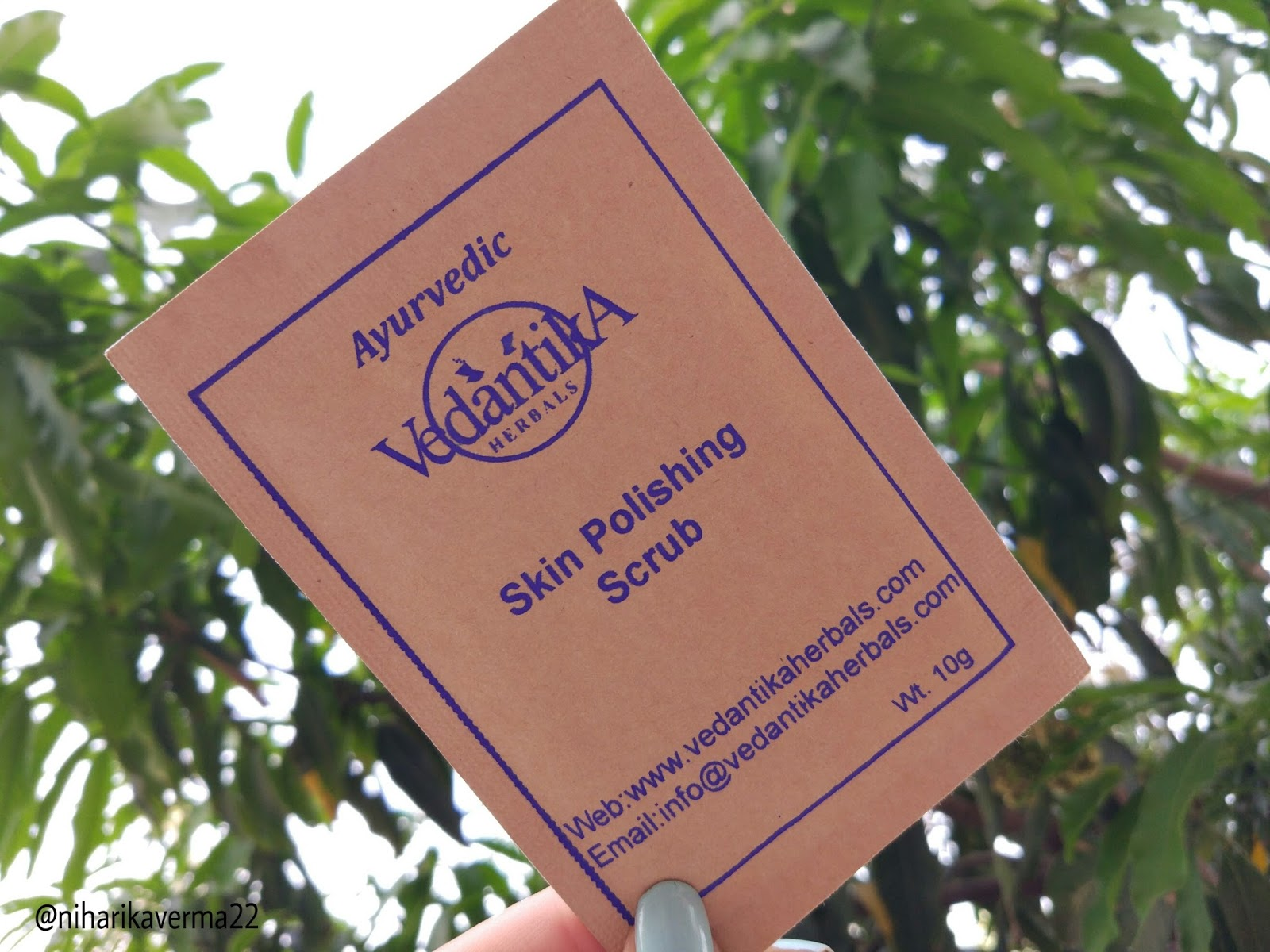 The Pink Velvet Blog - Vedantika Herbals - Skin Polishing Scrub