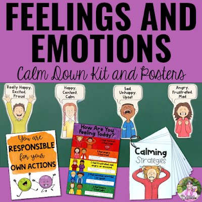 Feelings and Emotions Calm Down Kit and Posters