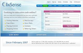 best PTC site - Clixsense