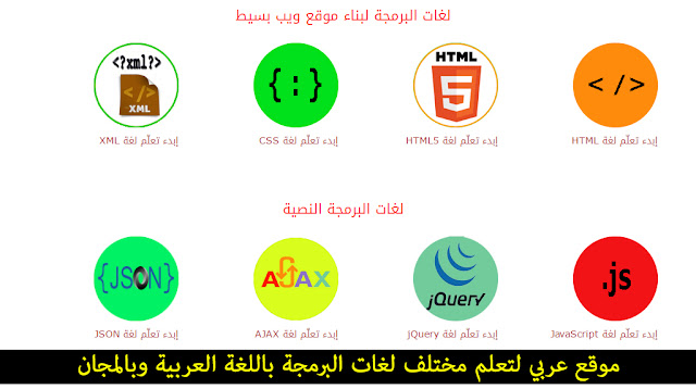 موقع عربي لتعلم مختلف لغات البرمجة باللغة العربية وبالمجان