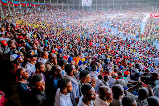 Pictures from the Mammoth Crowd that Attended Buhari Rally in Port-Harcourt
