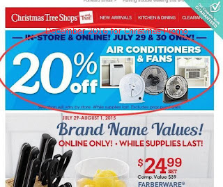 Christmas Tree Shops coupons for december 2016