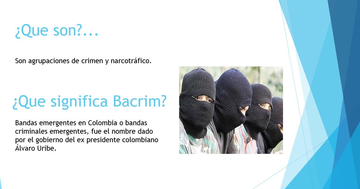 La Palabra Imposible Texto Expositivo Las Bacrim