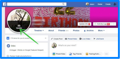 Change Facebook Profile Picture