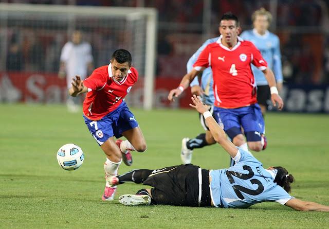 Uruguay y Chile en Copa América 2011, 8 de julio