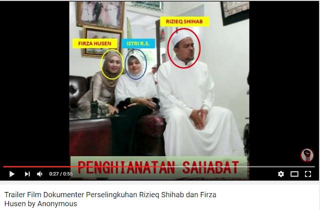 Gempar! Beredar Video Trailer Skandal Rizieq Shihab FPI dan Firza Husen, Sekedar Gertak Sambal atau Fakta?