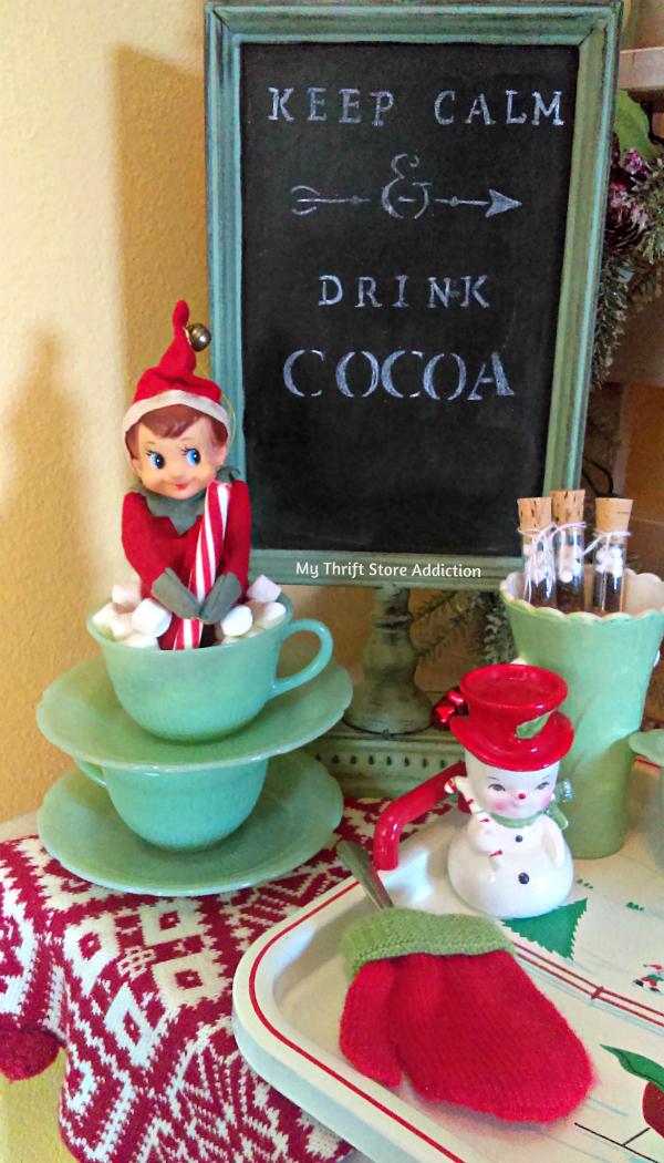 vintage jadeite cocoa bar