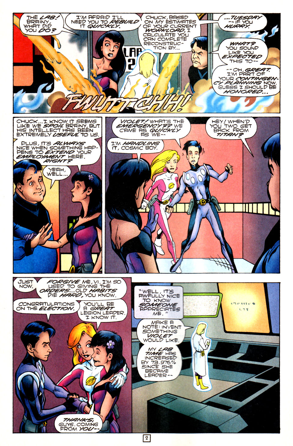 Legion of Super-Heroes (1989) 82 Page 2