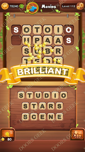 Word Bright Level 112 Answers, Cheats, Solutions, Walkthrough for android, iphone, ipad and ipod