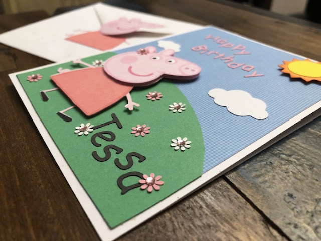 Peppa Pig Personalized Birthday Card with Matching Envelope