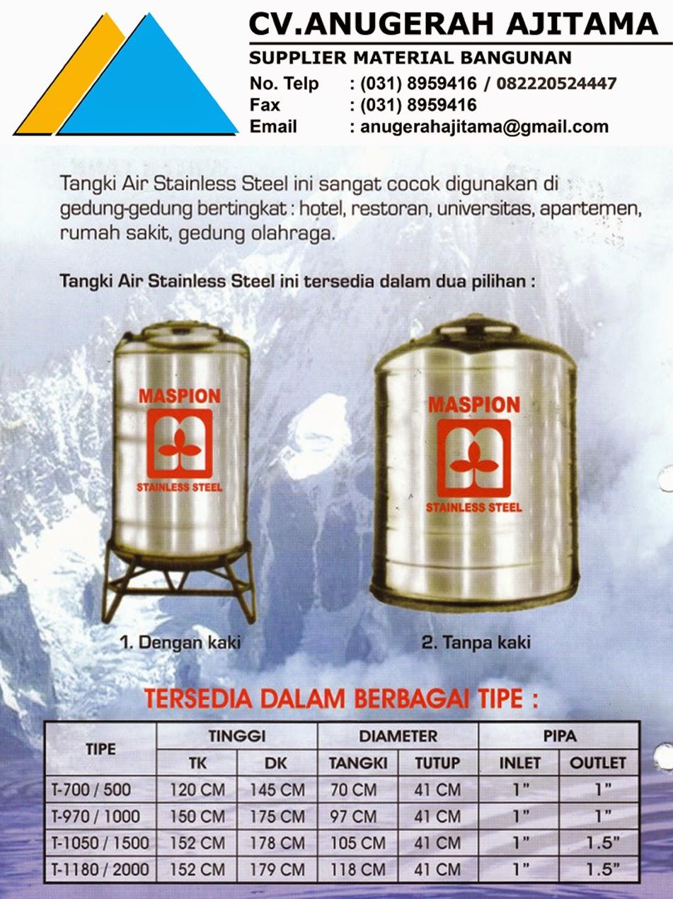 Spesifikasi Tandon Air Maspion