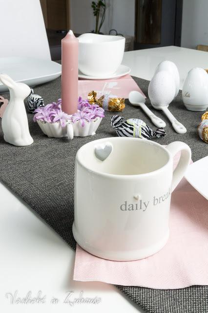 Ostern Tisch Dekoration Tasse daily break